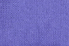 Abstract lavender knitting texture close-up. Royalty Free Stock Photo