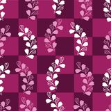 Abstract Lavender-Love in Parise Seamless Repeat Pattern on Maroon Background. Light Pink and White Colors. royalty free illustration