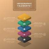 Abstract layer chart infographics Royalty Free Stock Images