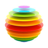Abstract layer rainbow colored sphere Royalty Free Stock Photo