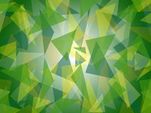 Abstract layered green triangle pattern with bright center background design Stock Photography