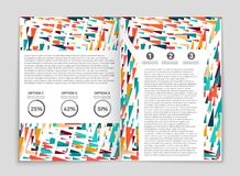 Abstract  layout background set. For art template design, list, front page, mockup brochure theme style, banner, idea, cover. Booklet, print, flyer, book Stock Photo