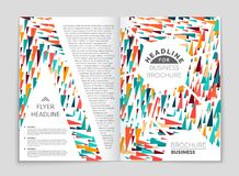 Abstract layout background set. For art template design, list, front page, mockup brochure theme style, banner, idea, cover. Booklet, print, flyer, book, blank royalty free illustration