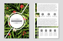 Abstract  layout background set. For art template design, list, front page, mockup brochure theme style, banner, idea, cover Royalty Free Stock Images