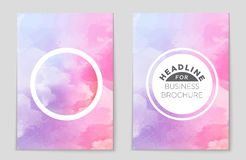 Abstract  layout background set. For art template design, list, front page, mockup brochure theme style, banner, idea, cover. Booklet, print, flyer, book Royalty Free Illustration
