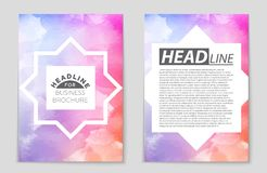 Abstract  layout background set. For art template design, list, front page, mockup brochure theme style, banner, idea, cover. Booklet, print, flyer, book Stock Illustration