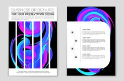 Abstract  layout background set. For art template design, list, front page, mockup brochure theme style, banner, idea, cover Royalty Free Stock Image
