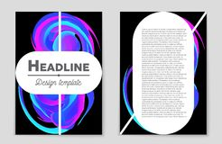 Abstract  layout background set. For art template design, list, front page, mockup brochure theme style, banner, idea, cover Royalty Free Stock Photo