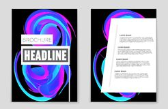 Abstract  layout background set. For art template design, list, front page, mockup brochure theme style, banner, idea, cover Stock Images