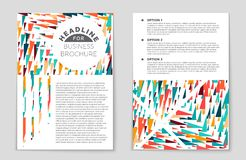 Abstract  layout background set. For art template design, list, front page, mockup brochure theme style, banner, idea, cover Stock Photography