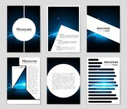 Abstract  layout background set. For art template design, list, front page, mockup brochure theme style, banner, idea, cover. Booklet, print, flyer, book Stock Photos