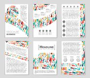 Abstract  layout background set. For art template design, list, front page, mockup brochure theme style, banner, idea, cover Royalty Free Stock Photos