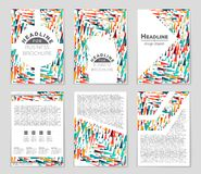 Abstract  layout background set. For art template design, list, front page, mockup brochure theme style, banner, idea, cover Royalty Free Stock Photography