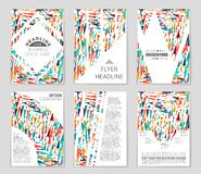 Abstract  layout background set. For art template design, list, front page, mockup brochure theme style, banner, idea, cover Stock Image