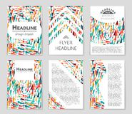 Abstract  layout background set. For art template design, list, front page, mockup brochure theme style, banner, idea, cover. Booklet, print, flyer, book Stock Image