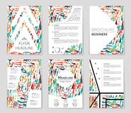 Abstract  layout background set. For art template design, list, front page, mockup brochure theme style, banner, idea, cover. Booklet, print, flyer, book Royalty Free Stock Photography