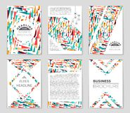 Abstract  layout background set. For art template design, list, front page, mockup brochure theme style, banner, idea, cover. Booklet, print, flyer, book Royalty Free Stock Images