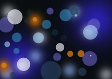 Abstract layout with circular shapes. Blurred background wallpaper designed for city light image for text or image layout Royalty Free Stock Image