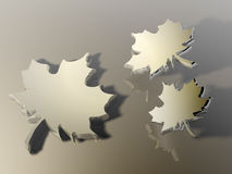 Abstract leaf. 3d render Royalty Free Stock Images