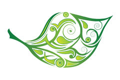 Abstract Leaf. Abstract green leaf on white background Vector Illustration