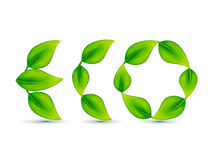 Abstract leaf based eco text Stock Photography