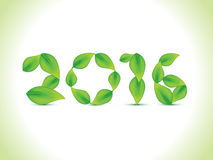 Abstract leaf based new year text. Vector illustration Royalty Free Stock Images