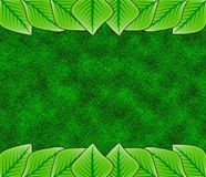 Abstract leaf border Stock Photos