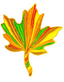 Abstract leaf drawing. A colourful marker pen sketch of a Maple leaf shape Royalty Free Stock Image