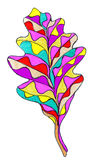 Abstract leaf drawing Stock Images