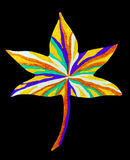 Abstract leaf drawing Stock Image