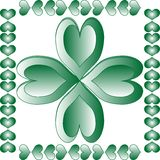 Abstract leaf element for st. patrick's day Royalty Free Stock Photography