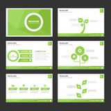 Abstract Leaf green infographic element and icon presentation templates flat design set for brochure flyer leaflet website Royalty Free Stock Photos