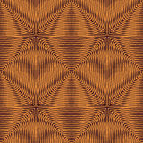 Abstract leaf line square golden seamless pattern Royalty Free Stock Photos