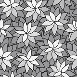 Abstract leaf plant seamless monochrome background Stock Photo