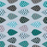 Abstract leaf seamless pattern Royalty Free Stock Photography