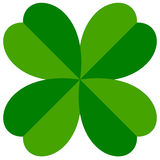 Abstract 4-leafed clover graphic Luck, fortune concept Royalty Free Stock Photography