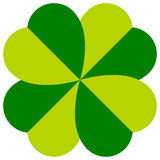 Abstract 4-leafed clover graphic Luck, fortune concept Stock Image