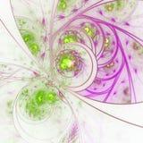 Abstract leafy fractal pattern. Digital artwork for creative graphic design vector illustration