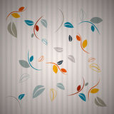 Abstract Leaves Background. Abstract Cardboard Background with Leaves Stock Image