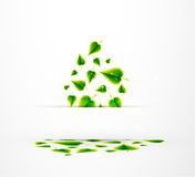 Abstract leaves. Nature vector background Royalty Free Stock Photography