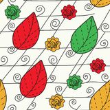 Abstract leaves seamless pattern Royalty Free Stock Images