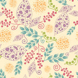Abstract Leaves Seamless Pattern Background Royalty Free Stock Photo