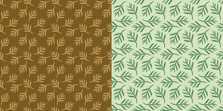Abstract Leaves Seamless Pattern - Original Design Royalty Free Stock Photography