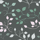 Abstract leaves, a seamless pattern Stock Images