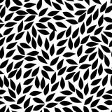 Abstract leaves shapes. vector seamless pattern. black and white. Abstract leaves shapes. vector seamless pattern. simple black and white background. textile Stock Illustration