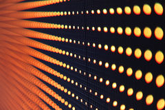 Abstract LED lights. Perspective view of row of LED lights on the wall royalty free stock images
