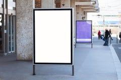 Abstract leeg blancaanplakbord op de straat, advertentiebanner Royalty-vrije Stock Foto