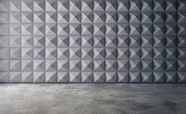 Abstract leeg concreet binnenland met veelhoekig muurpatroon 3d Stock Afbeelding