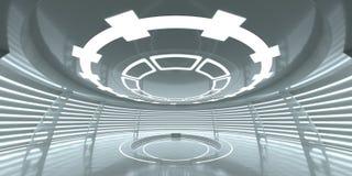 Abstract leeg gloeiend futuristisch ruimtestation Royalty-vrije Stock Afbeelding