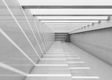 Abstract leeg wit binnenland 3d gang Stock Foto's